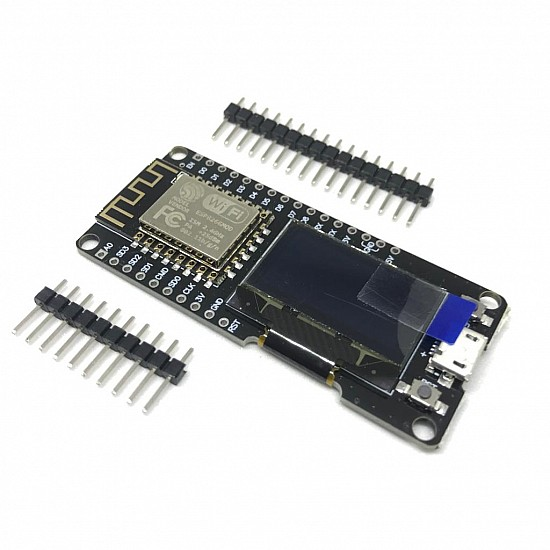 NODEMCU ESP8266 WIFI + 0.96 INCH OLED BOARD