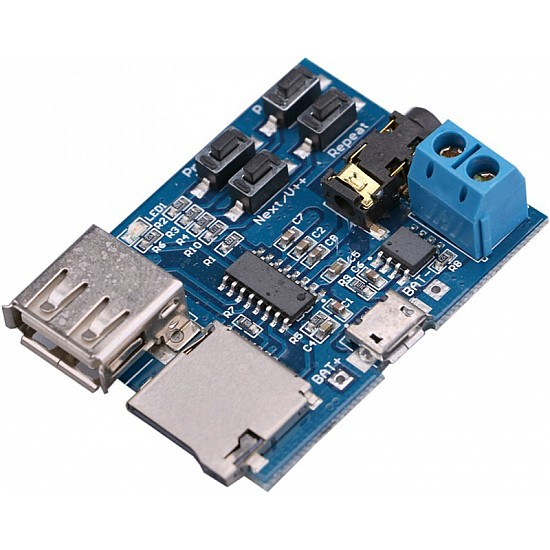 Non-Destructive MP3 Decoding Board with Self-Powered TF Card U Disk Decoded Player Module