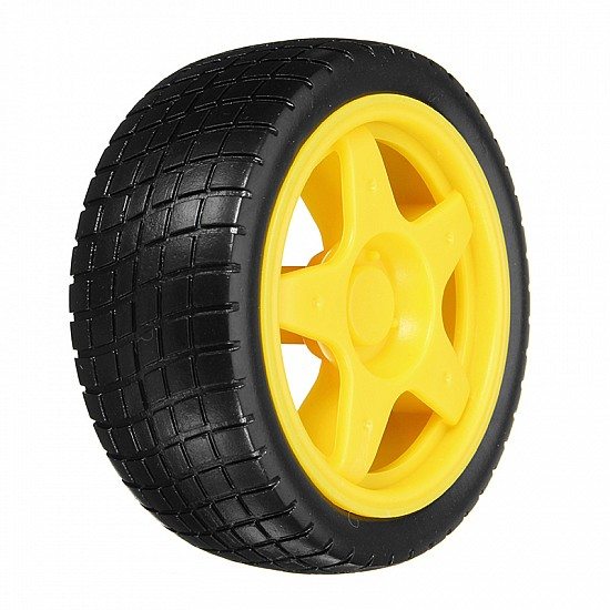 Smart Robot Car Tyres Wheels For Arduino BO Gear Motor Chassis - Other - Arduino