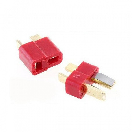 1 Pair Fireproof T Plug Connector For RC ESC Battery - Other - Multirotor
