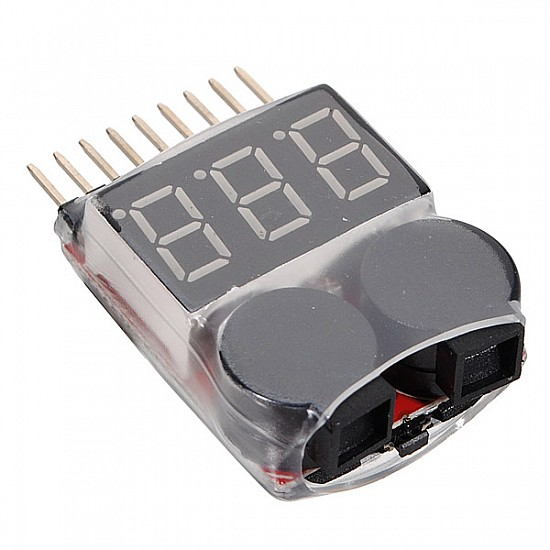 Battery Voltage Tester Monitor and Buzzer Alarm