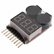 Battery Voltage Tester Monitor and Buzzer Alarm - lipo, li ion life