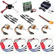 Quadcopter Drone Combo Kit for beginner (Motor + ESC + Propeller + Flight Controller + Frame + TX-RX)