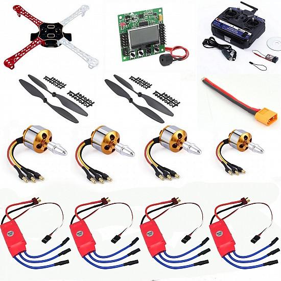 Quadcopter Drone Combo Kit for beginner (Motor + ESC + Propeller + Flight Controller + Frame + TX-RX) - Multirotor -