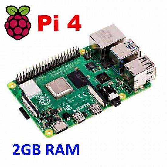 Raspberry Pi 4 Model-B with 2 GB RAM -  -