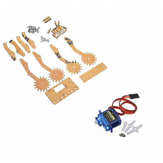 Servo Gripper for pick and place Robot Mechanism