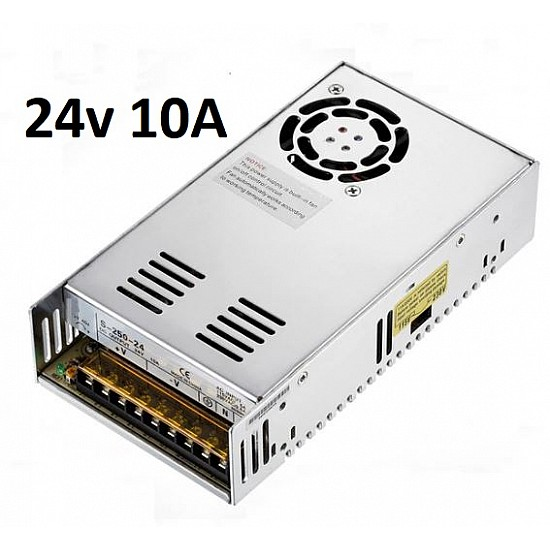 24V 10A SMPS Industrial Power Supply - Power Supply - 3D Printer - 3D Printer and Accessories