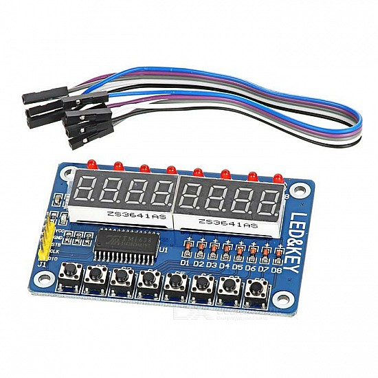 TM1638 8-Bit Button Digital LED Display Module