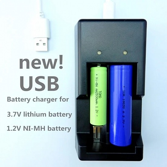 Tomo V6-2 Dual Slots USB Intelligent Battery Charger For rechargeable batteries