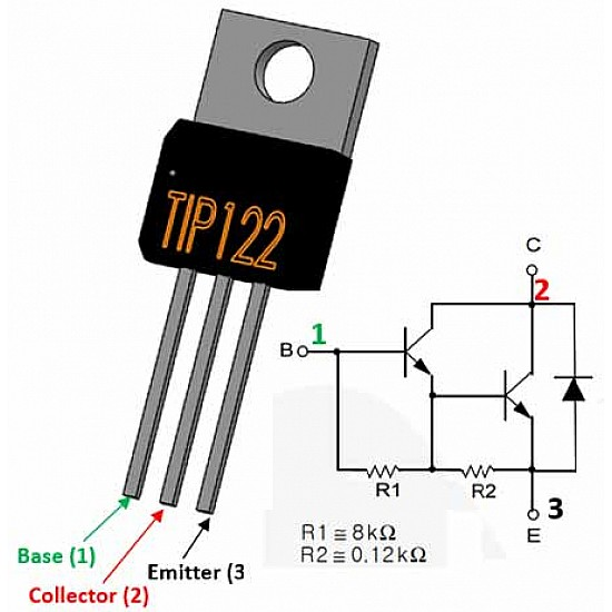 TIP122 - NPN Transistor - Switching Transistor - ICs - Integrated Circuits & Chips - Core Electronics