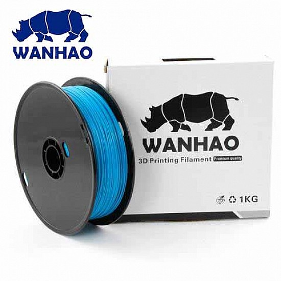 WANHAO Blue PLA 1.75 mm 1 Kg Filament For 3D Printer – Premium Quality Filament - Filament - 3D Printer and Accessories