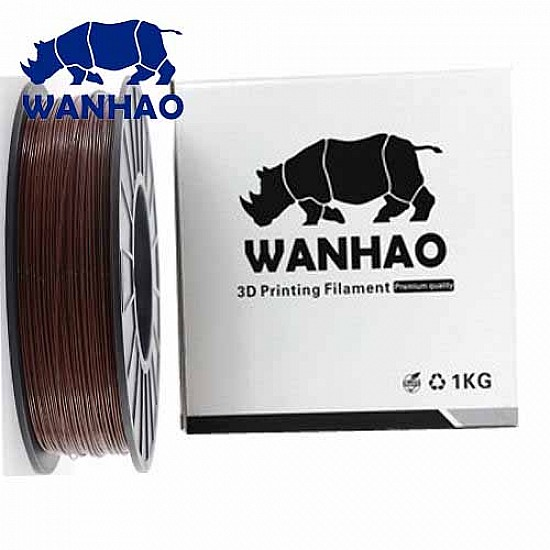 WANHAO Brown PLA 1.75 mm 1 Kg Filament For 3D Printer – Premium Quality Filament - Filament - 3D Printer and Accessories