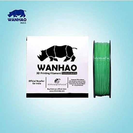 WANHAO Green ABS 1.75 mm 1 Kg Filament For 3D Printer – Premium Quality Filament
