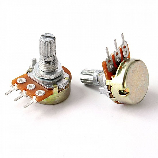 WH148 100K Ohm 3Pin 15mm Shaft Single Potentiometer