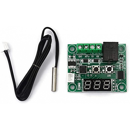 XH-W1219 12V Digital Display Temperature Controller Module with NTC Waterproof Temperature Sensor