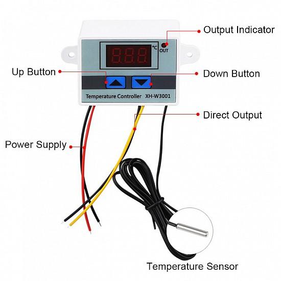 XH-W3001 220V AC Digital Temperature Controller Microcomputer Thermostat Switch Module