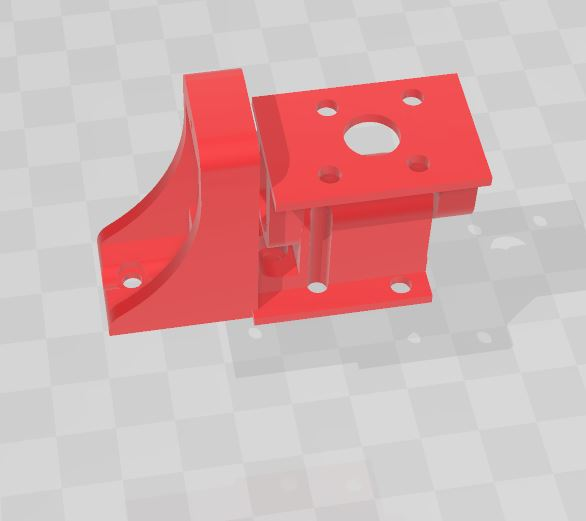 3D Printed Motor mount with tilt mechanism by servo SG90 | 3D Printed Product