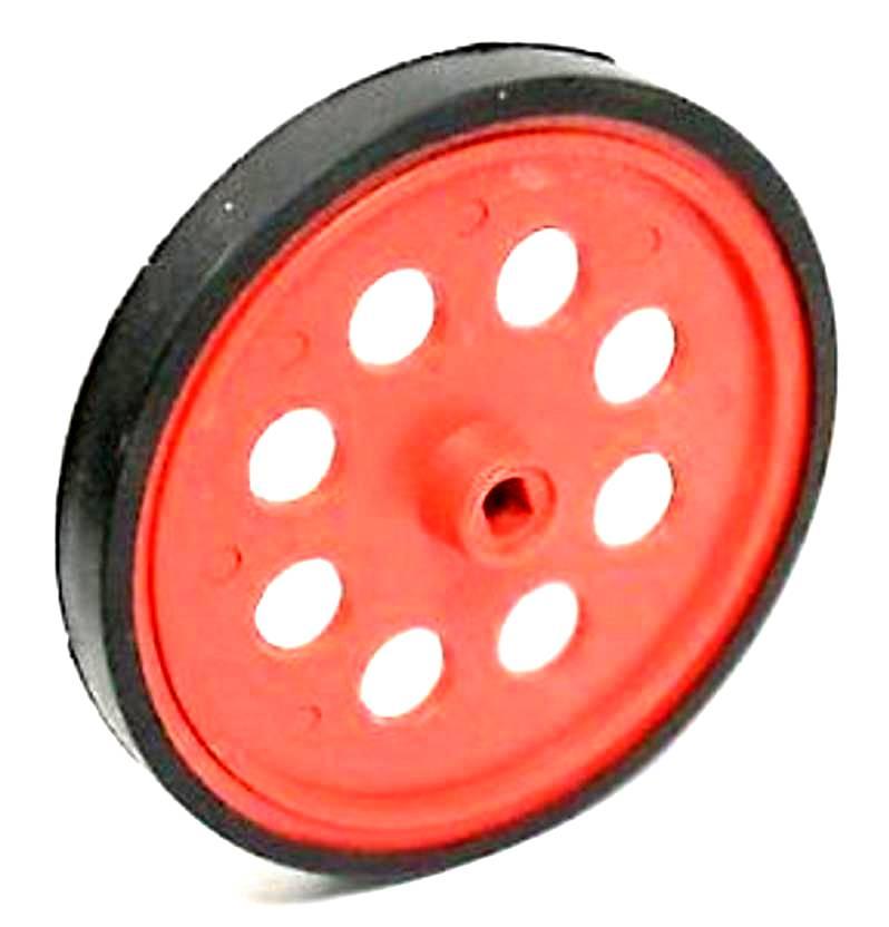 BO Gear Motor Wheel - Red - Robot Spare Parts -