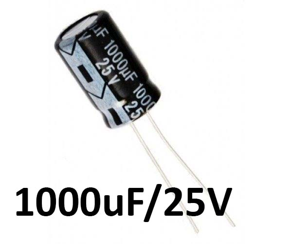 1000uf / 25v Electrolytic Capacitor - Capacitors - Core Electronics