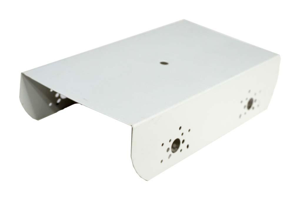 Robot Metal Chassis - White for 4 Wheel ( 4WD ) 4 motors Robotics DIY Kit - 250x135x60 mm - Robot Spare Parts -