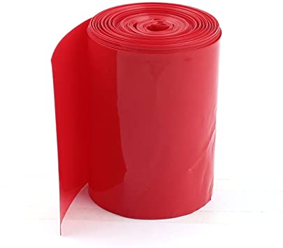128mm 1-Meter PVC Heat Shrink Sleeve Red for Lithium Cell Pack
