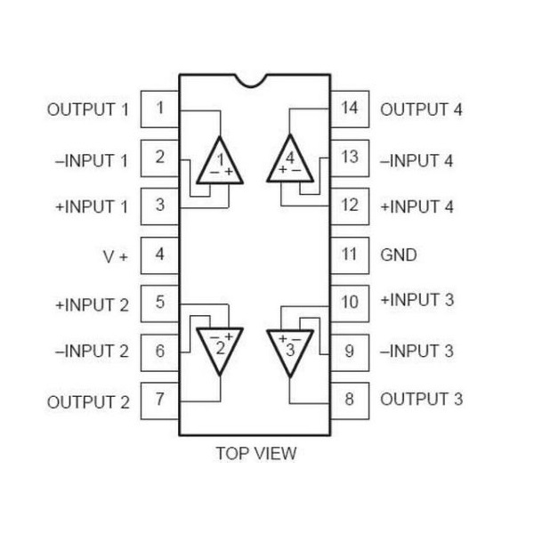 LM324 IC  - Low Power Quad Op-Amp IC - ICs - Integrated Circuits & Chips - Core Electronics