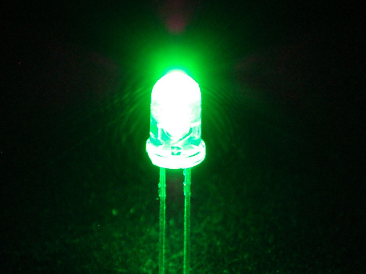 Green LED 5mm Pack Of 10  (Light Emitting Diod) - Other -