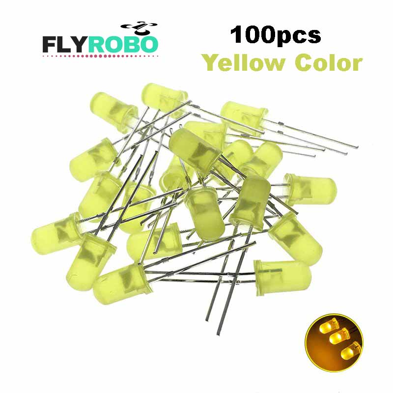 Yellow LED 5mm Pack Of 100  (Light Emitting Diod) - Other -