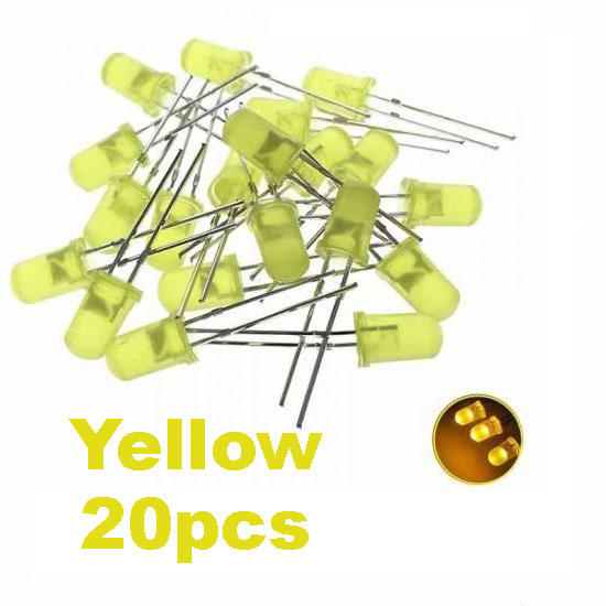 Yellow LED 5mm Pack Of 20  (Light Emitting Diod) - Other -