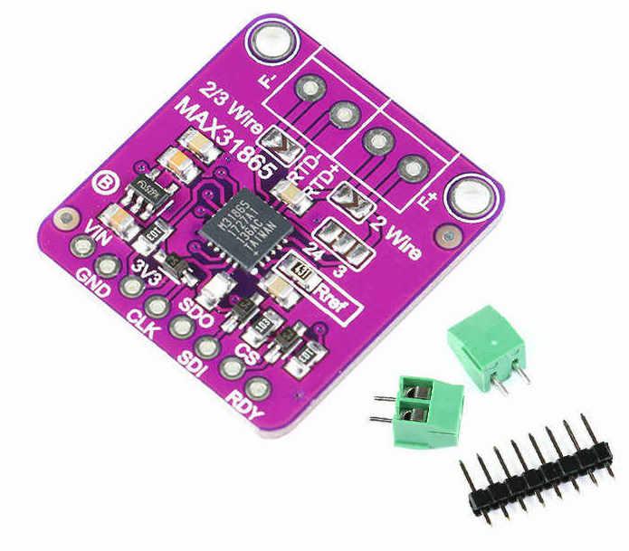 MAX31865 RTD Platinum PT100 to PT1000 Temperature to Digital Voltage Converter