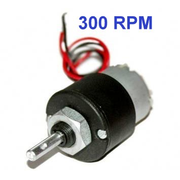 DC 12V 300RPM Metal Geared Motor - DC Gear Motor - Motor and Driver
