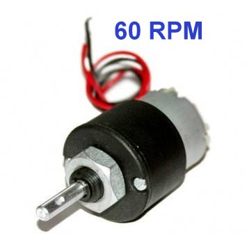 DC 12V 60RPM Metal Geared Motor - DC Gear Motor - Motor and Driver