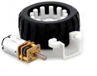 N20 Geared Motor Rubber Wheel Kit