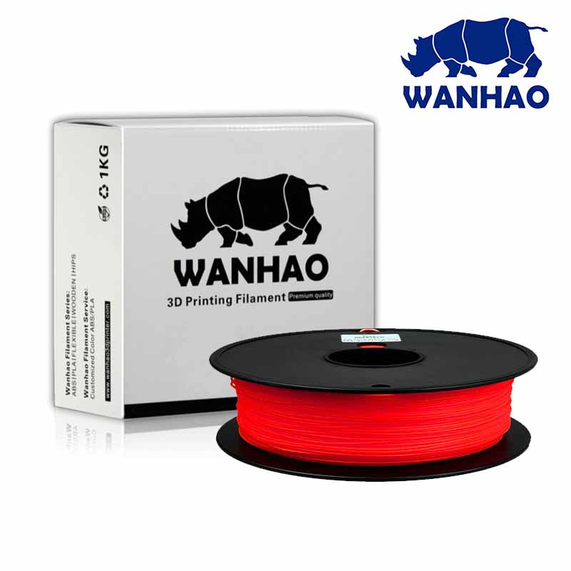 WANHAO Red PLA 1.75 mm 1 Kg Filament For 3D Printer – Premium Quality Filament - Filament - 3D Printer and Accessories