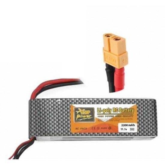 ZOP Power LiPo Battery 11.1V 2200MAH 3S 25C - Battery - Arduino